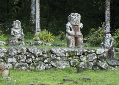 Site archéologique Tiki - Hiva Oa - îles des Marquises - © Tahiti Tourisme