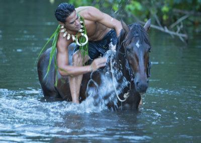 Cavalier de Hiva Oa - îles des Marquises © Tahiti Tourisme