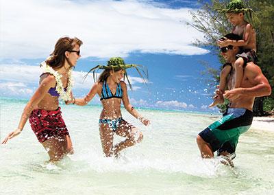 Combiné grand luxe: 4 îles en famille