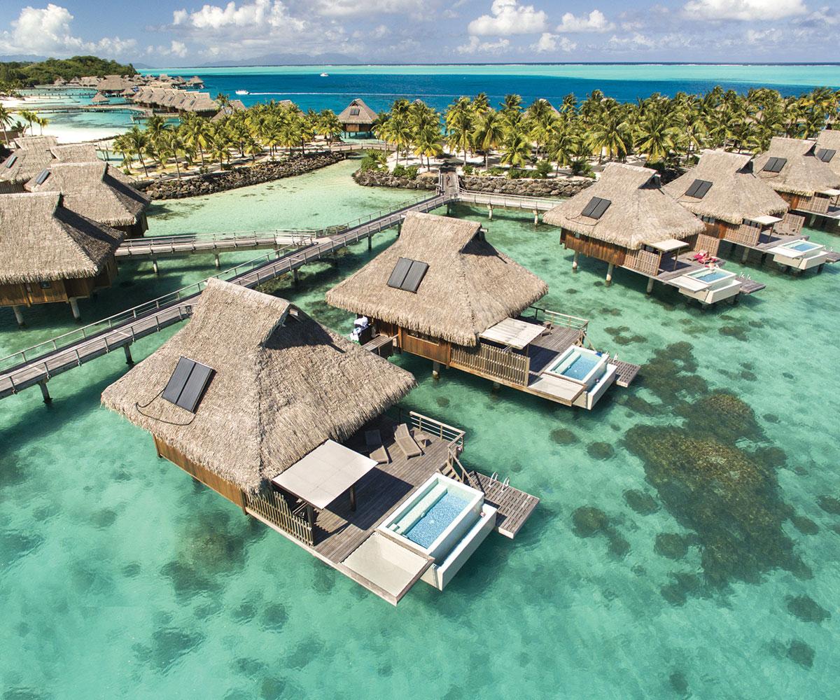 Tahiti Accommodation Over Water Bungalows: Pic Of Bora Bora