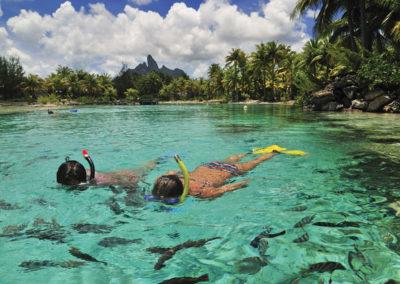 Snorkling à Bora Bora © Hôtel St-Régis