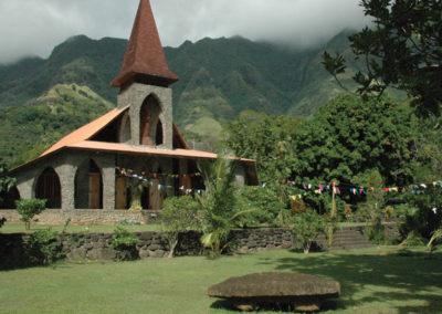 Eglise de Tahuata - Iles des Marquises © Michel Aubert -Tahiti Tourisme