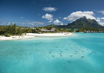 """Couple retreat romance"" at the St. Regis Bora Bora"