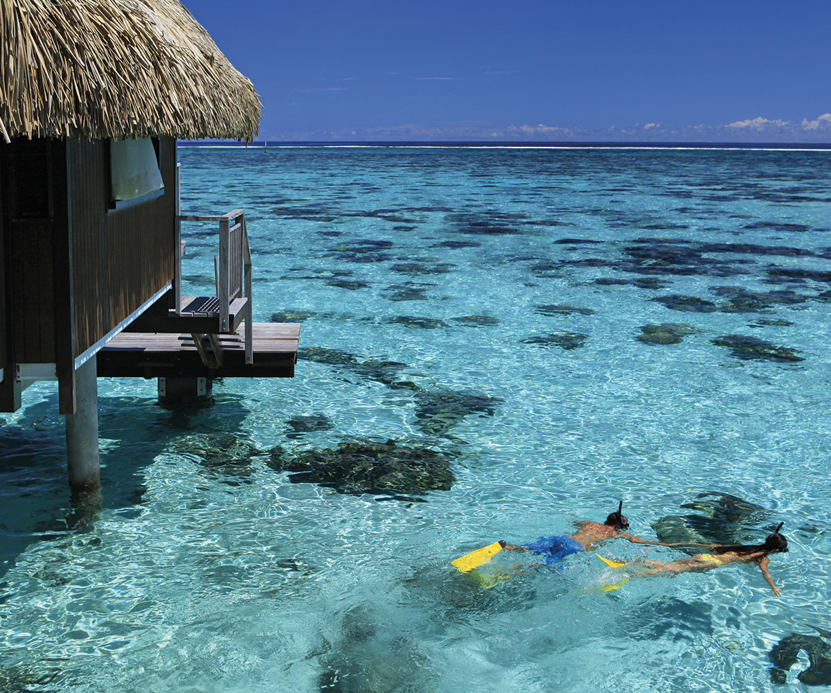 Tahiti Accommodation Over Water Bungalows: 1 Stay = 3 Islands + 1 Atoll Deal