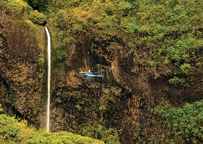 Survol de Tahiti en hélicoptère