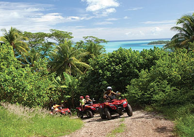 Tour guidé en quad à Bora Bora