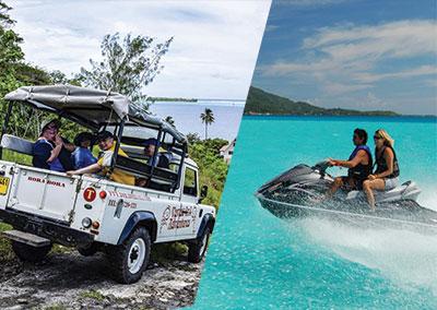 Combo safari 4×4 / jet ski à Bora Bora