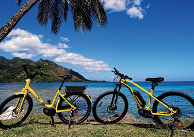 E-bike in Moorea