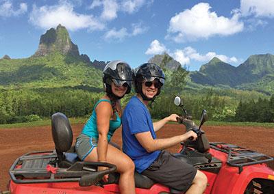 Combo jet ski et quad à Bora Bora