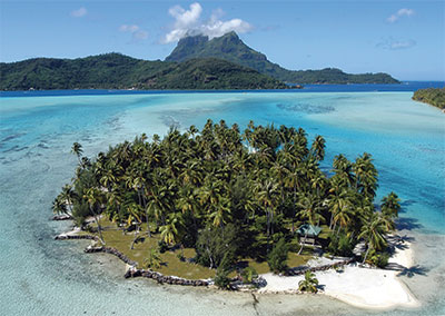 Renting a private island in Bora Bora