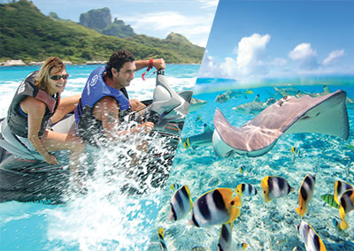 Combo jet ski / rays and sharks Safari in Bora Bora