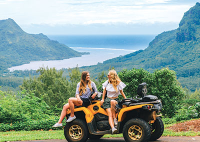 Moorea guided tour by quad