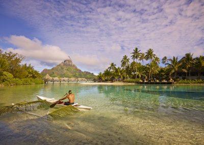 Intercontinental Bora Bora Resort Thalasso Spa Outrigger Canoe On The Lagoon 16231143581 O