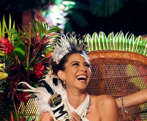 Miss Tahiti, the beauty of the Pacific